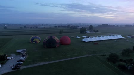celestial : Hot Air Glow Balloons Taking Off on a Early Sunrise