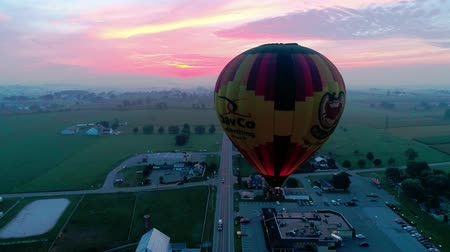propane : Bird in Hand, Pennsylvania, September 2018 - Hot Air Glow Balloons Taking Off, on a Early Sunrise.