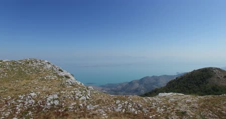 horská pastvina : aerial view of mountain landscape. Adriatic sea coast, Montenegro
