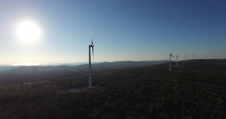 tényleges : Aerial view of wind power generators in Croatia