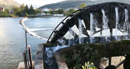 türbin : a water wheel to lift water for irrigation of grape fields in Bosnia