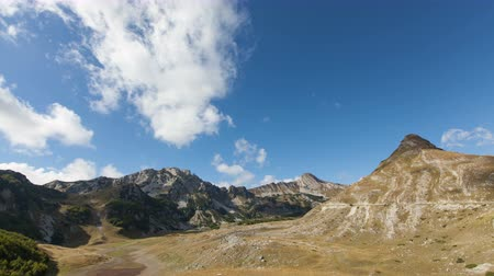 nemzeti : time lapse of Mountains inside a national park Durmitor