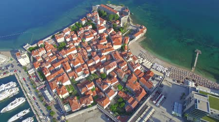 Черногория : Aerial View of Old Budva in Montenegro.