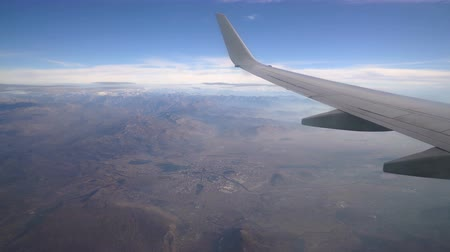 Черногория : view from the aircraft to the Podgorica city Стоковые видеозаписи