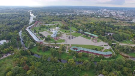 façanha : Aerial view of Brest fortress Vídeos
