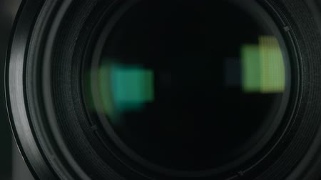filmagens : Camera lens zoom. Changing focal length.