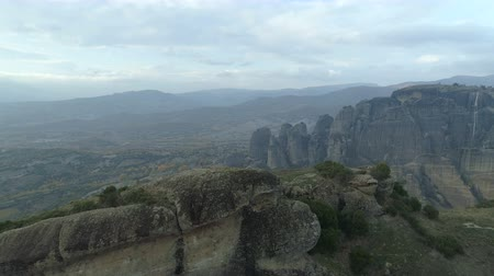 evangelical : Aerial view of the rock formations near Meteora monasteries.