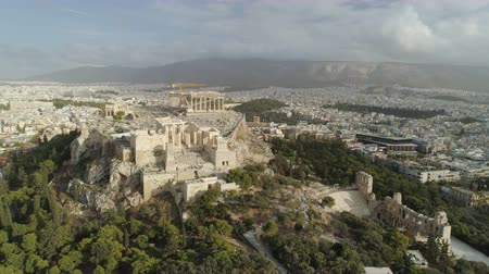 dionysus : Acropolis of Athens ancient citadel in Greece Stock Footage
