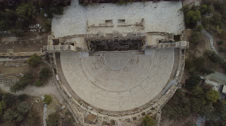 dionysus : aerial view of Odeon of Herodes Atticus located at the foot of the Acropolis