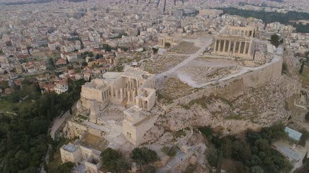 акрополь : Aerial view of Acropolis of Athens ancient citadel in Greece