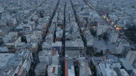 kurmak : Athens at dusk, aerial view