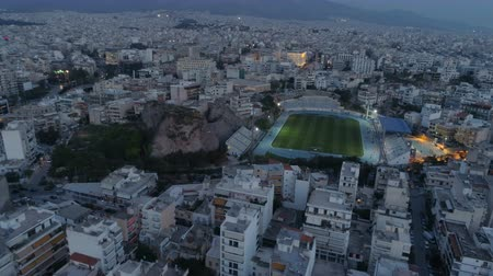 город : Athens at dusk, aerial view