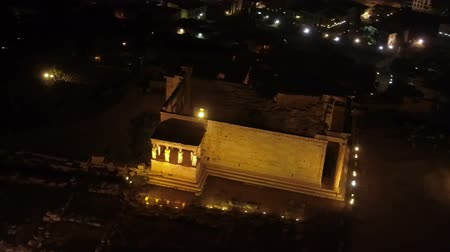 aerial athens : Aerial view of Erechtheion in Acropolis of Athens ancient citadel, Greece
