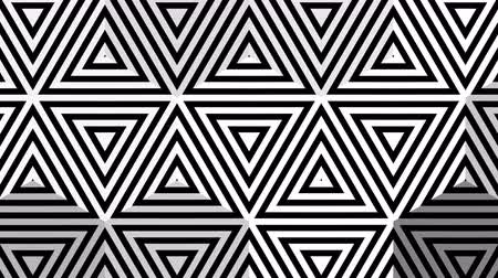 concêntrico : Hypnotic rhythmic movement of geometric black and white shapes Vídeos
