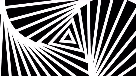 rhythmic : Hypnotic rhythmic movement of geometric black and white shapes Stock Footage