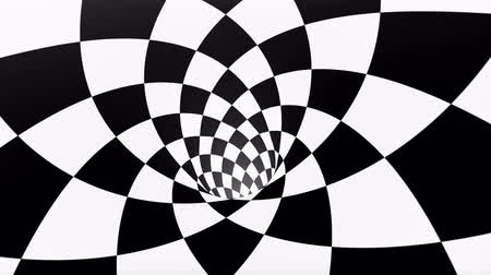 размеры : VJ infinite looped checkerboard tunnel Стоковые видеозаписи
