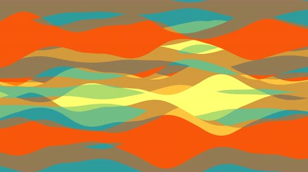 transe : flat animation with stripe wave