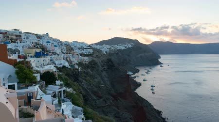 УВР : Sunrise in Santorini, Oia Greece Стоковые видеозаписи