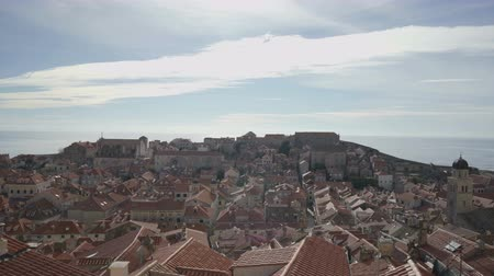 dalmácia : Old town Dubrovnik on sunny day view from the city wall Stock mozgókép