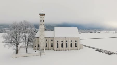 romanico : Aerial view of St. Coloman Church in Southern Germany
