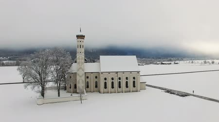 королева : Aerial view of St. Coloman Church in Southern Germany