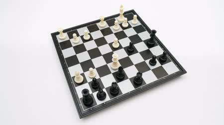 replication : chess game top view Stock Footage