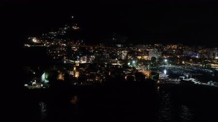 citadela : aerial hyperlapse view of an old town Budva