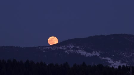fáze : moonrise over wooded hills in winter Dostupné videozáznamy