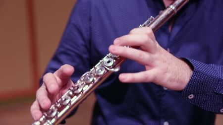 flutist : Musician playing flute on stage
