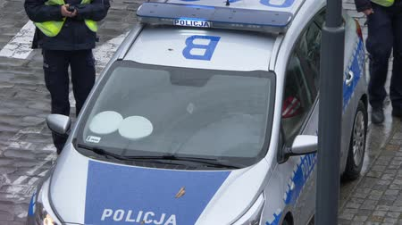 helyettes : European police car with officers
