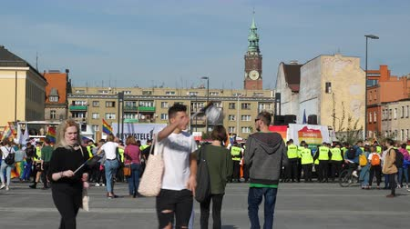 feminist : Wroclaw Poland 6.10.2018 The March of Equality. LGBTQ Gay Pride Parade