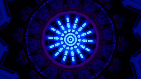 surrealismo : Space Hypnotic endless mandala movments back and forth Stock Footage