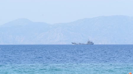 small vessels : Uknown Ship Turkey coast view from the Greece