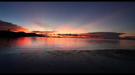 Beautiful silhouette sunset over the sea in ko samui Island thailand vacation concept.