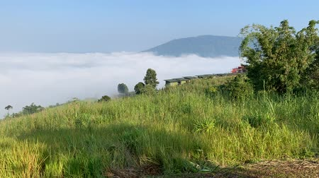 time lapse video nature mountain sky and mist on at phu tubberk thailand.