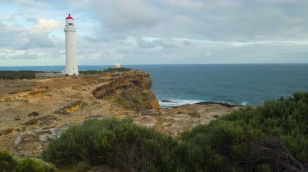 világítótorony : Cape Nelson lighthouse in Australia in the summer Stock mozgókép