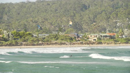 Kitesurfing in Batemans bay in New South Wales, Australia