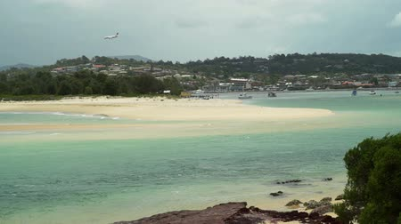 Landing in Australia by plane, Merimbula, in the summer Stock Footage