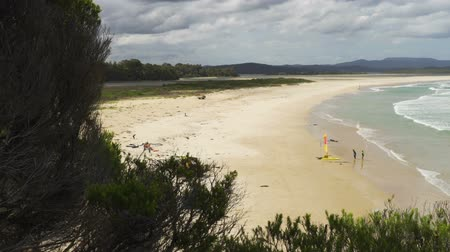 Mallacoota beach in Victoria, Australia, in the summer Стоковые видеозаписи