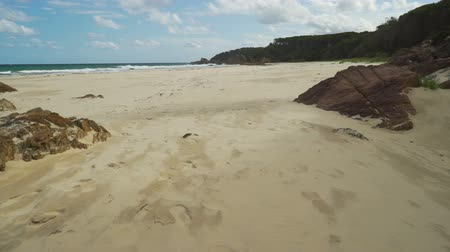 Mallacoota heavenly beach in the summer on a sunny day, dolly in