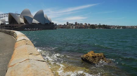 Sydney harbour and opera seen from the botanical garden, Australia