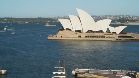 Sydney opera seen from the bridge in Australia