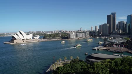 Timelapse of boats going in and out Sydney port in Australia