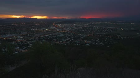 Stunning sunset over Townsville at night, Queensland, Australia