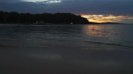 Sunset from Little beach pier in Port Stephens and Nelson Bay, Australia