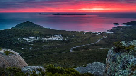 promontory : Landscape at Wilsons prom national park at sunset, zoom in