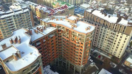 Aerial view of multistorey high apartment building 動画素材