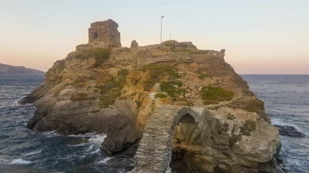 hora : Old castle in Andros island in Greece. A touristic destination.