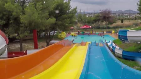 waterslide : Sliding at the waterslides with action camera.
