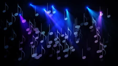 rock music : Musical Notes  Design Element Stock Footage